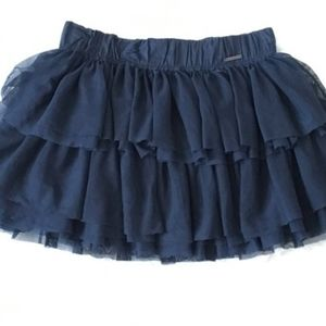 Abercrombie & Fitch Blue Tulle Mini Skirt